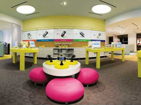 T-MOBILE playground retail brand design