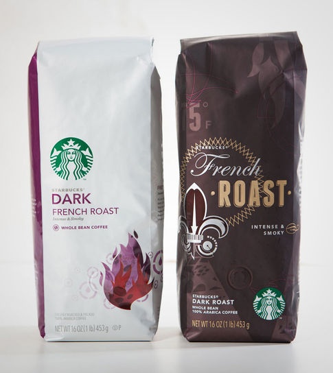 STARBUCKS global core coffee packaging redesign