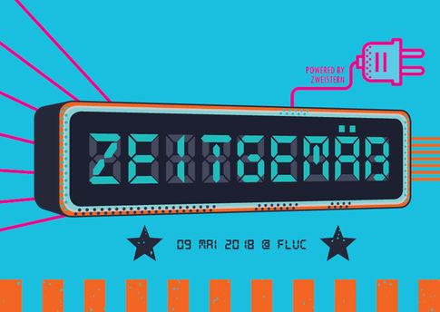 ZWEISTERN Zeitgemäs flyer design