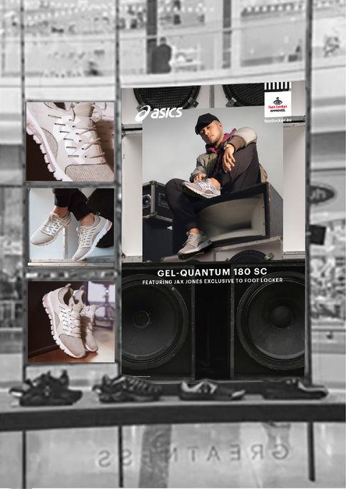 ASICS Jax Jones x Footlocker retail OOH