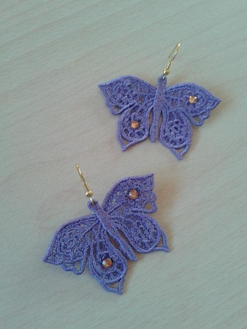 ORECCHINI FARFALLA violet