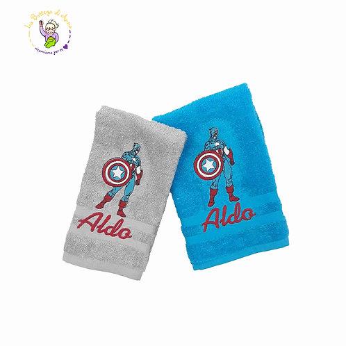 Asciugamano in spugna di cotone Capitan America