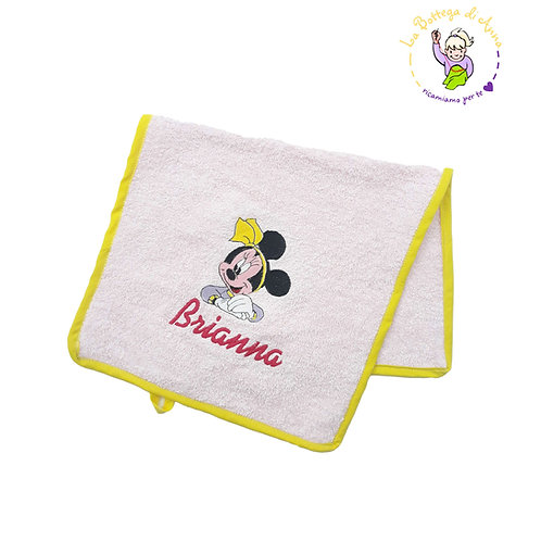 Asciugamano spugna di cotone rosa