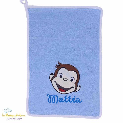 Asciugamano in spugna di cotone George la scimmietta