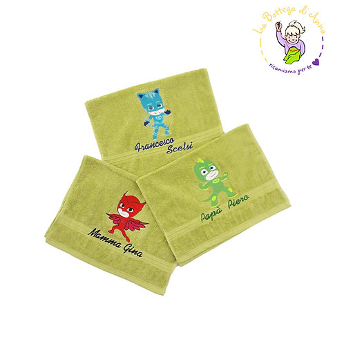 Asciugamano verde PJ Masks