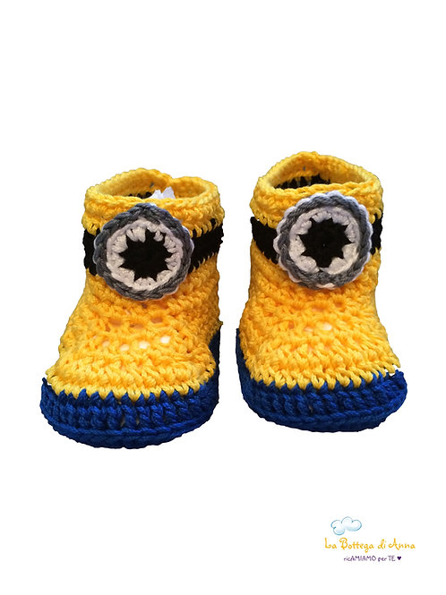 MINIONS-like BABY SHOES