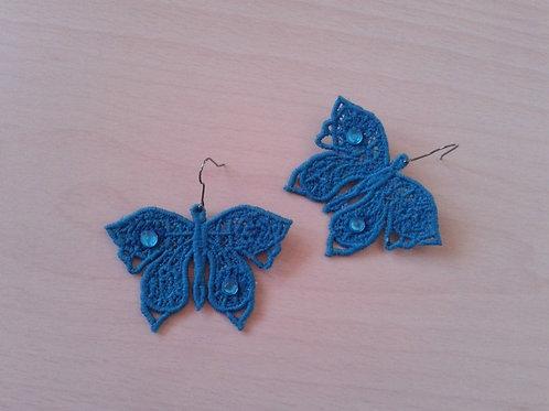 ORECCHINI FARFALLA azzurro