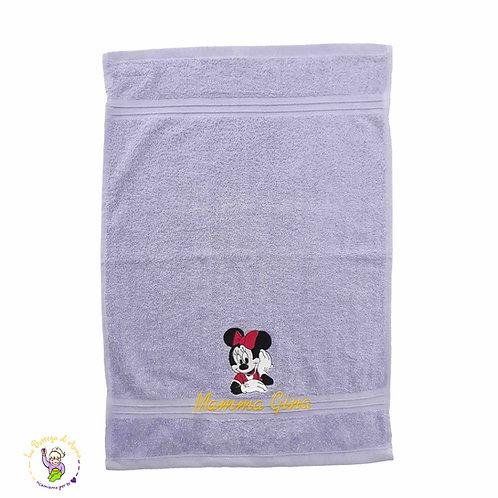 Asciugamano in spugna di cotone Minnie