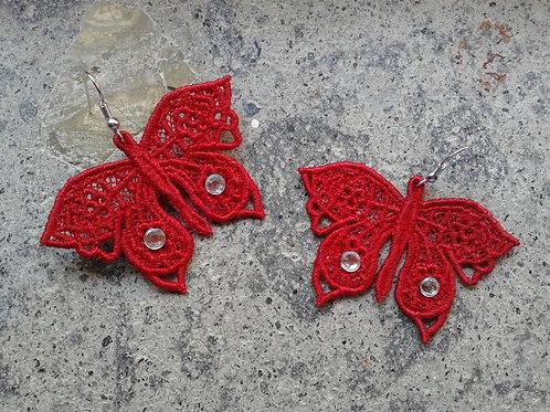ORECCHINI FARFALLA red