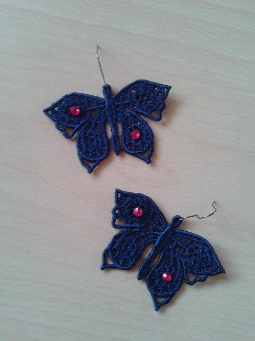 ORECCHINI FARFALLA blue