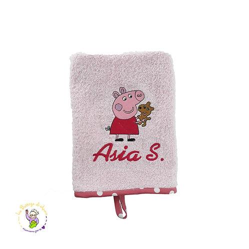Asciugamano i spugna di cotone Peppa Pig