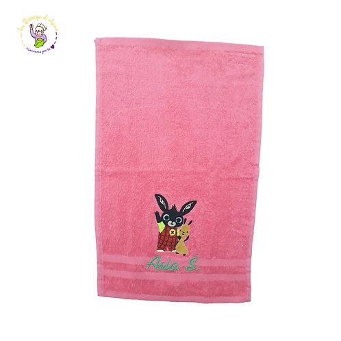 Asciugamano Coniglietto Bing e Flop in spugna di cotone