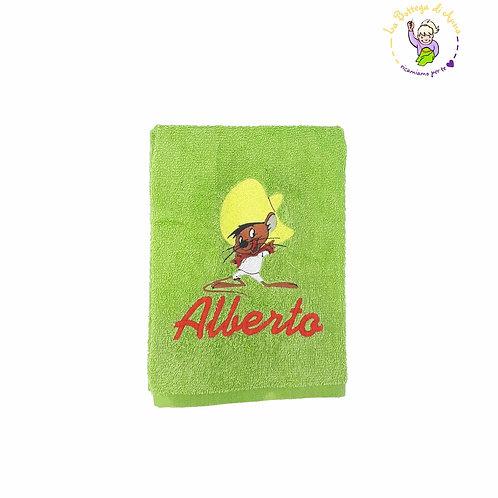 Asciugamano in spugna di cotone Speedy Gonzales