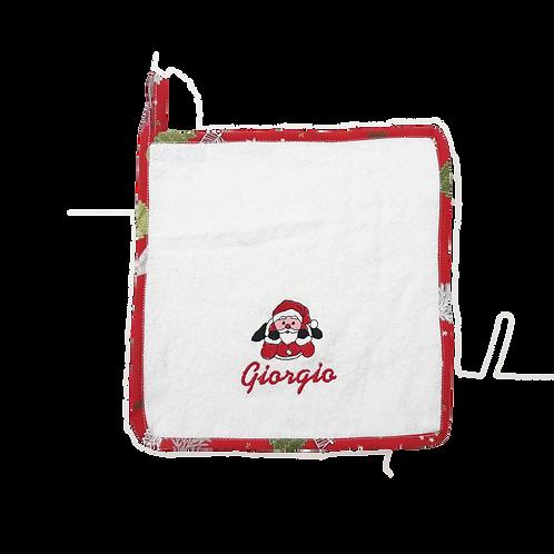 Asciugamano in spugna di cotone Babbo Natale