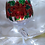 Thumbnail: 'Poinsettia' Hand Painted Stemmed Candle Glass