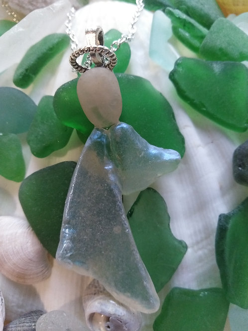 Hand Crafted 'Little Angel' Sea Glass Pendant