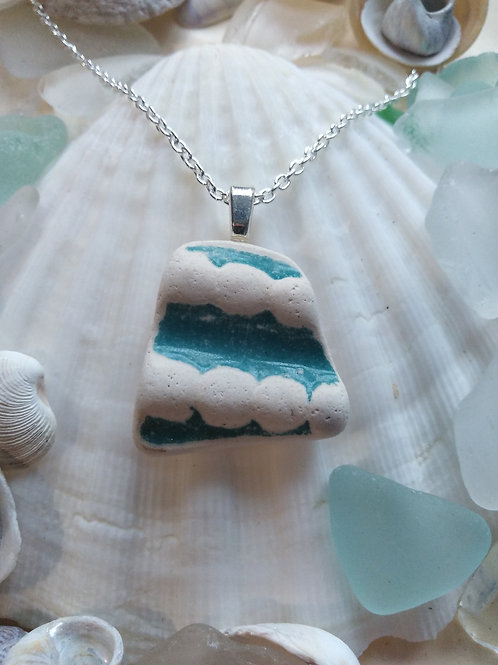 Hand Crafted 'Bumpy' Sea Pottery Pendant