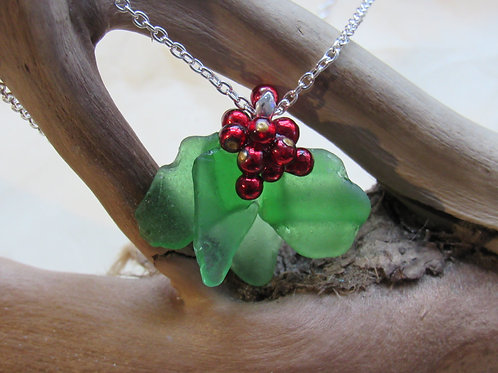 Hand Crafted 'Holly' Sea Glass Pendant