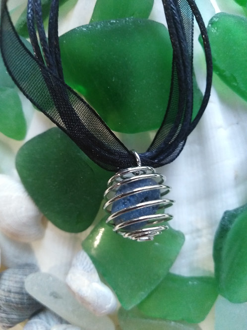 Caged 'Ballycastle Glass' Pendant