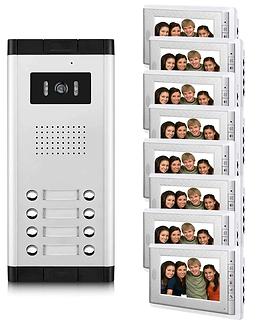 Apartment-Intercom-System-7-Inch-Monitor-6-12-Units-Apartment-Video-Door-Phone-Intercom-Sy