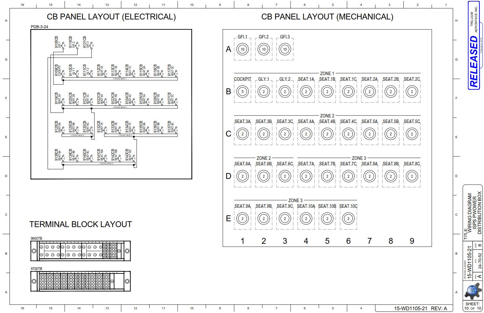 Trilliumaerospace Portfolio Wiring Diagram Symbols Embraer Isps Cb Panel And Block