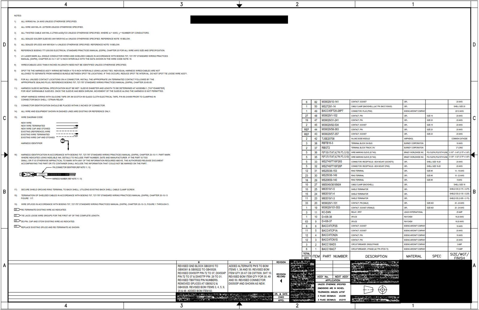 Trilliumaerospace Portfolio Wiring Diagram Symbols Embraer General Notes