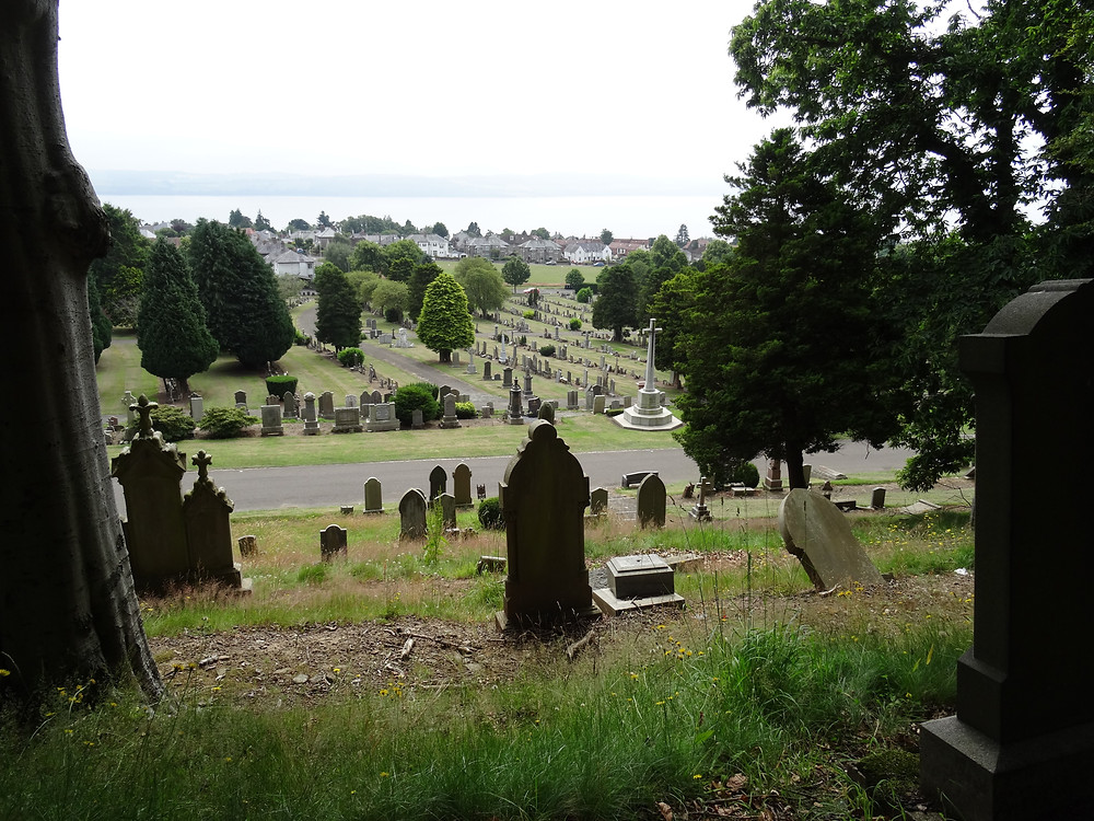 A view of the Tay from Balgay Cemetary, Dundee