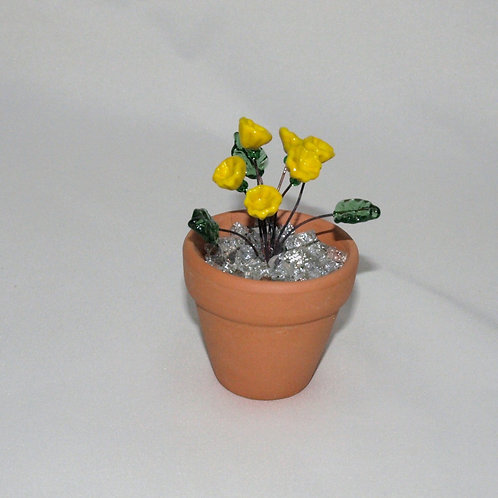Mini Flower Pot with Yellow Flowers