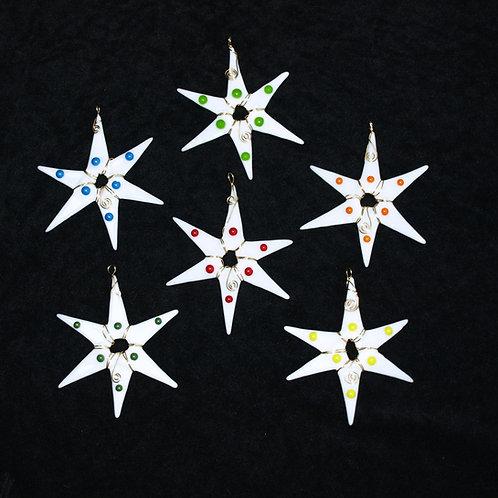 Fused Glass Star Ornament or Suncatcher