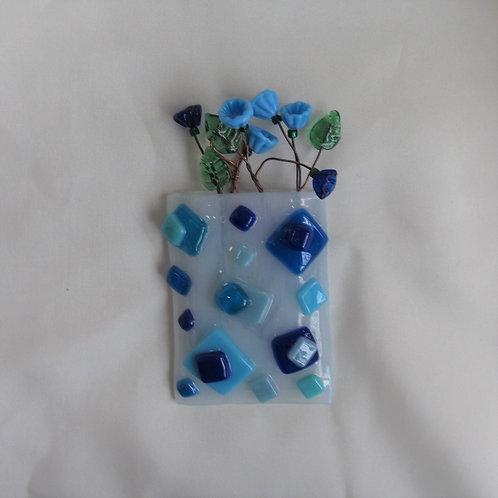 Mini-Vase with Random Blues