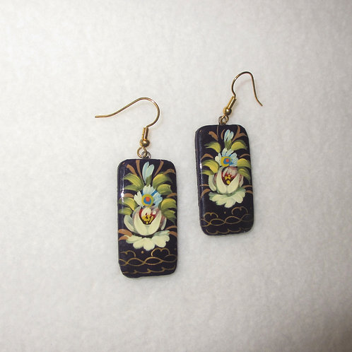 Handpainted Flower Earrings
