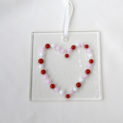 Raised Dots Heart Suncatcher