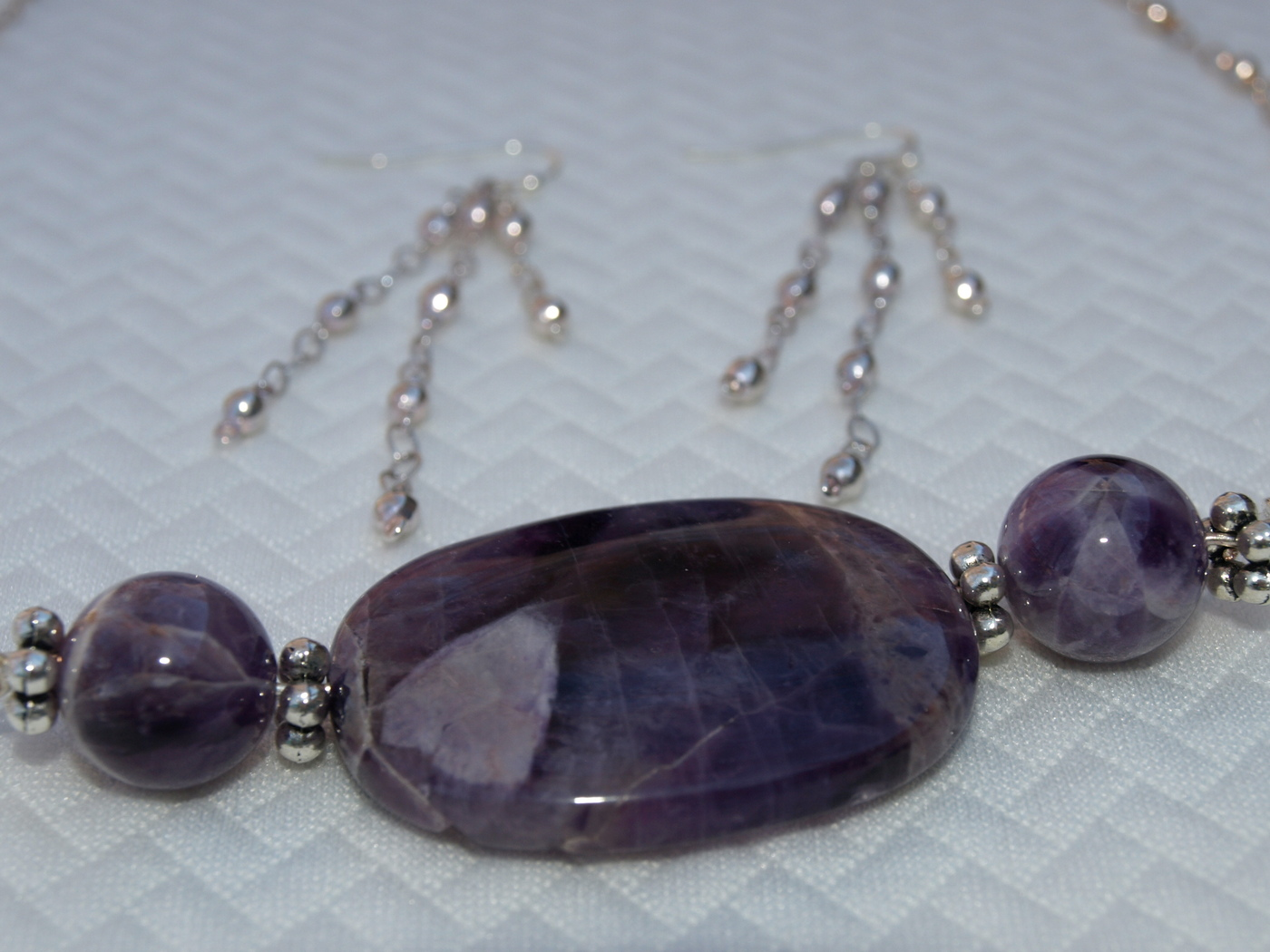 Cape Amethyst Necklace - handmade of