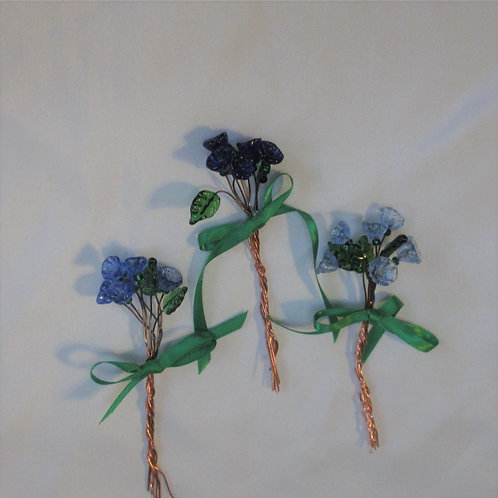 Mini-Bouquets in Blues