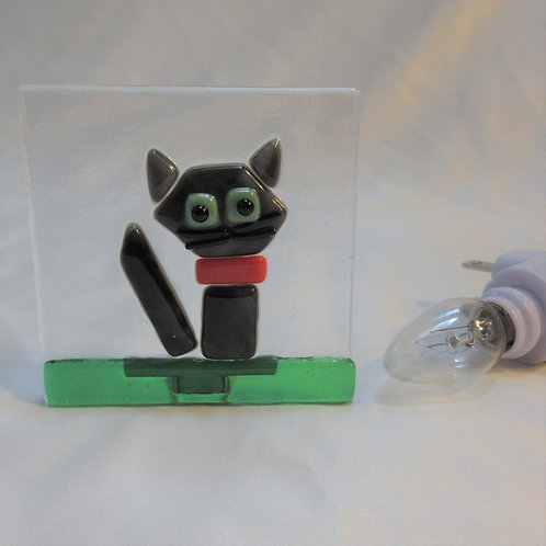 Gray Cat Night Light