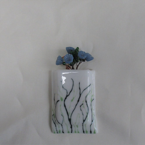 Mini-Vase with Handpainted Swirly Leaves
