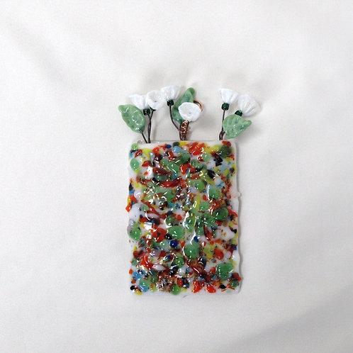 Multi-colored Mini-vase featuring Greens