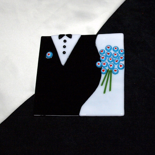 Wedding Plate - Turquoise Hearts