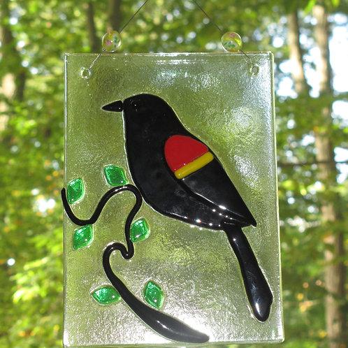 Red-winged Blackbird Suncatcher