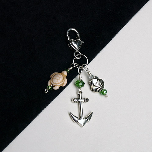 Sea Life Charm - Anchor, Scallop, and Turtle