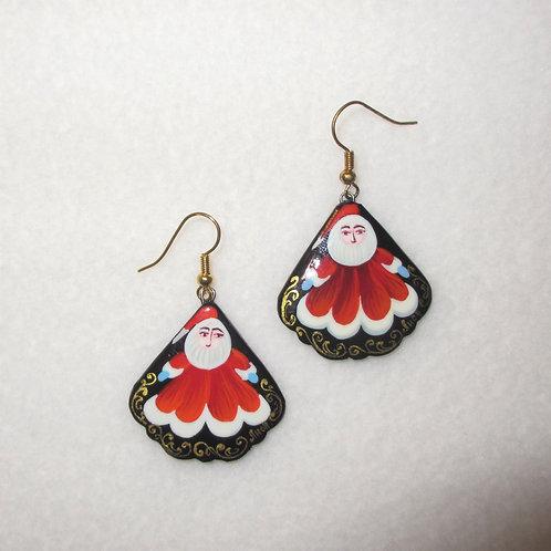 Santa Handpainted Earrings