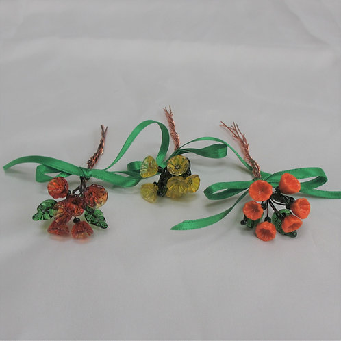 Mini-Bouquets in Orange or Yellow