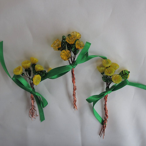 Mini-Bouquets in Yellows