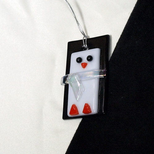 Penguin Ornament with Clear Scarf