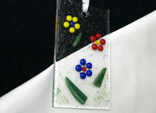 Raised Fused Glass Dot Pieces