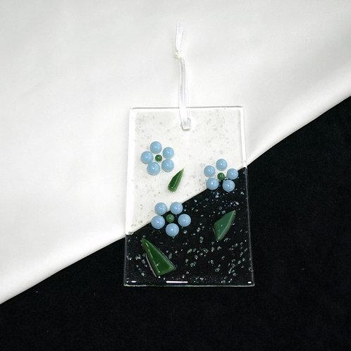 Pale Blue Raised Flower Dot Suncatcher
