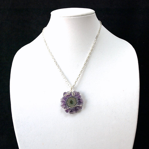 Amethyst Flower Crystal Necklace