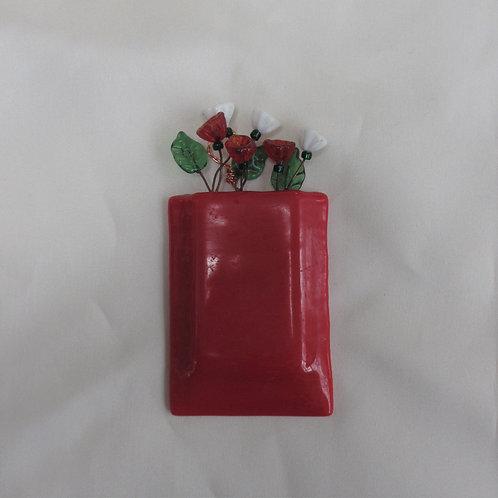 Mini-Vase in True Red