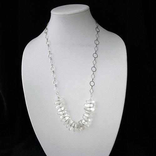 Raw Quartz Crystal Statement Necklace