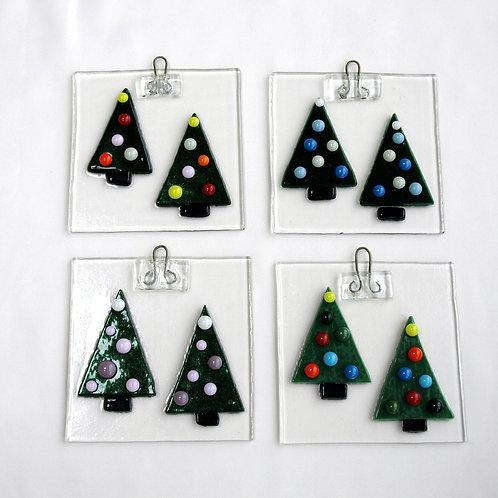 Fused Glass Christmas Tree Ornament or Suncatcher